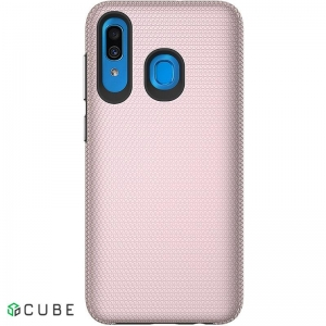 Чехол-накладка TOTO Triangle TPU+PC Case Samsung Galaxy A20/A30 Rose Gold
