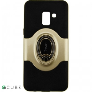 Чехол-накладка Ipaky 360° Free Rotation Ring Holder case Samsung Galaxy A8 Plus A730F Gold