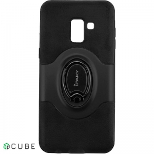 Чехол-накладка Ipaky 360° Free Rotation Ring Holder case Samsung Galaxy A8 Plus A730F Black