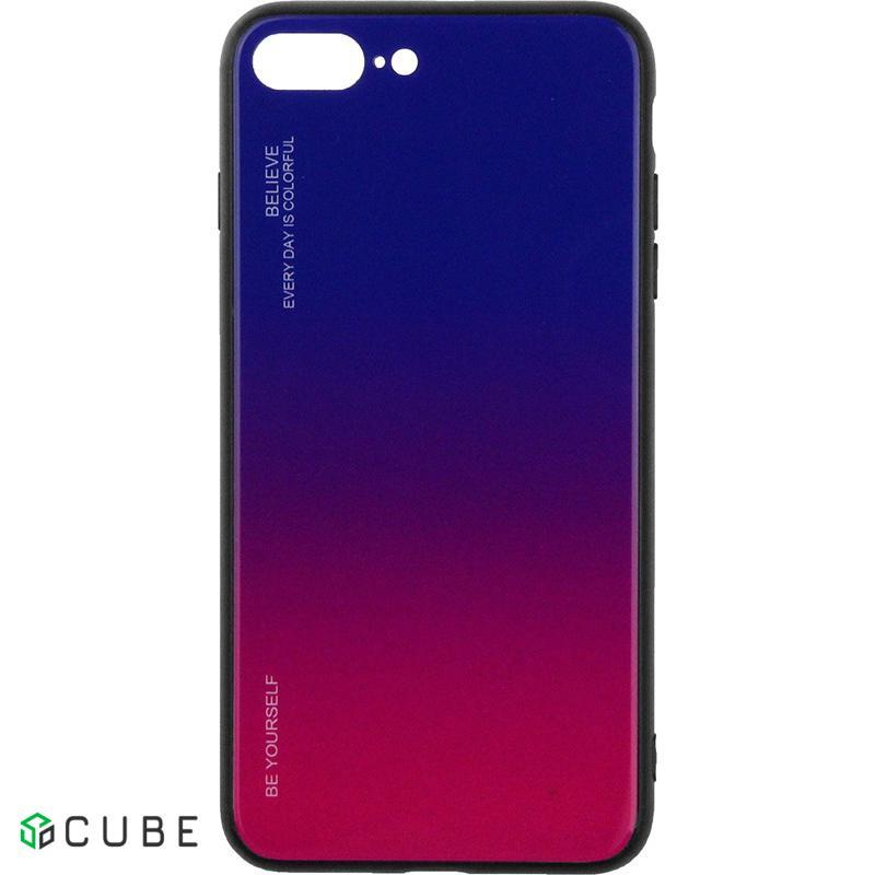Чехол-накладка TOTO Gradient Glass Case Apple iPhone 7 Plus/8 Plus Lilac