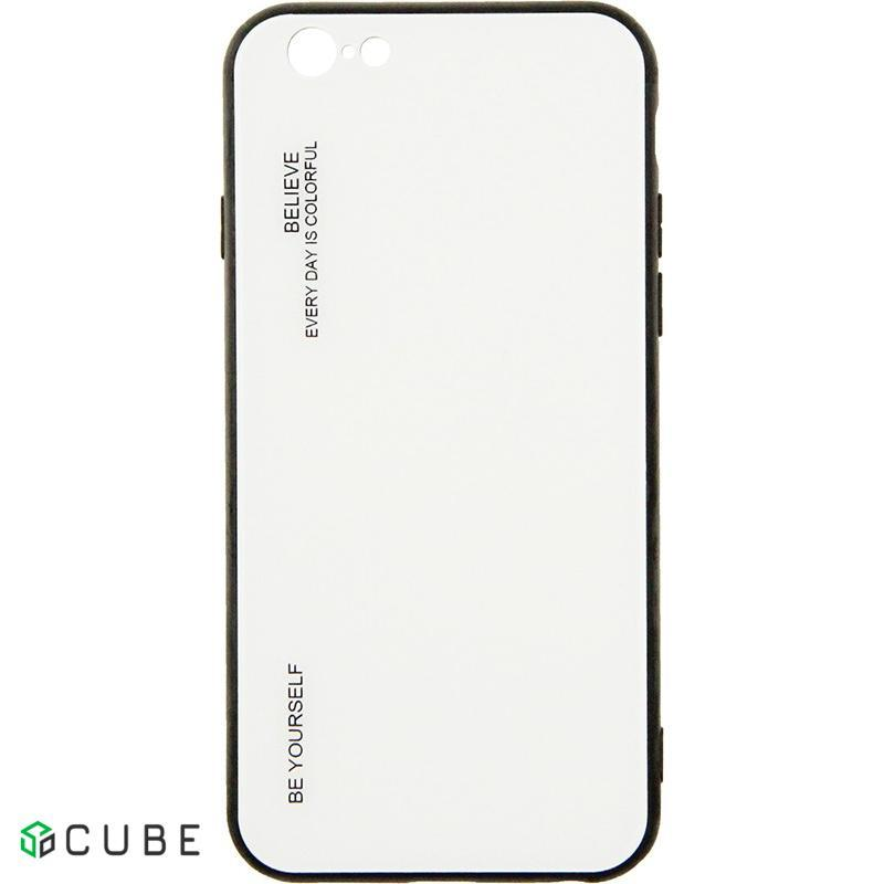 Чехол-накладка TOTO Gradient Glass Case Apple iPhone 6/6S White