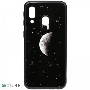 Чехол-накладка TOTO Cartoon Print Glass Case Samsung Galaxy A40 Starry Sky
