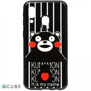 Чехол-накладка TOTO Cartoon Print Glass Case Samsung Galaxy A40 Kumamon
