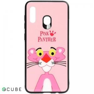 Чехол-накладка TOTO Cartoon Print Glass Case Samsung Galaxy A20/A30 Pink Panther