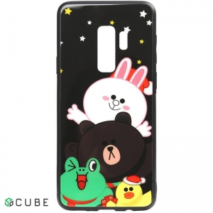 Чехол-накладка TOTO Cartoon Print Glass Case Samsung Galaxy S9+ Line friends all about