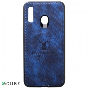 Чехол-накладка TOTO Deer Shell With Leather Effect Case Samsung Galaxy A20/A30 Dark Blue