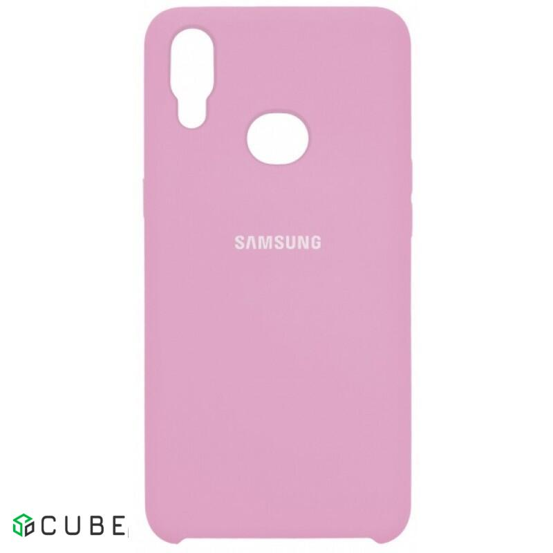Накладка Silicone Cover для Samsung A10s (A107) Light Pink