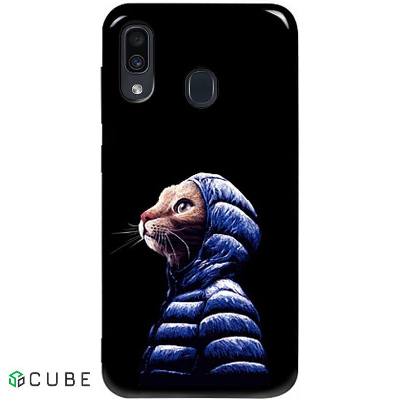 Чехол-накладка TOTO Pure TPU 2mm Print Case Samsung Galaxy A20/A30 #76 Catcoat Black