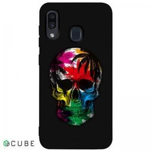 Чехол-накладка TOTO Matt TPU 2mm Print Case Samsung Galaxy A20/A30 #29 Skull Black