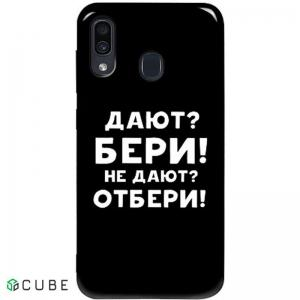 Чехол-накладка TOTO Pure TPU 2mm Print Case Samsung Galaxy A20/A30 #23 Beri Black