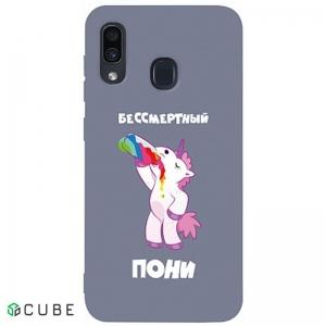 Чехол-накладка TOTO Matt TPU 2mm Print Case Samsung Galaxy A20/A30 #20 Unicorn Drink Lavander Grey