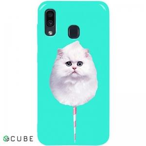 Чехол-накладка TOTO Pure TPU 2mm Print Case Samsung Galaxy A20/A30 #9 Cat Candy Mint