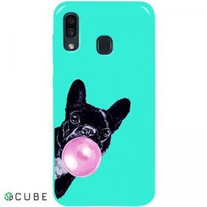 Чехол-накладка TOTO Pure TPU 2mm Print Case Samsung Galaxy A20/A30 #75 Bubbledog Mint