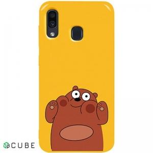 Чехол-накладка TOTO Pure TPU 2mm Print Case Samsung Galaxy A20/A30 #56 Bear Ups Yellow