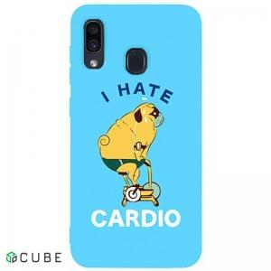 Чехол-накладка TOTO Matt TPU 2mm Print Case Samsung Galaxy A20/A30 #5 Hate Cardio Sky Blue