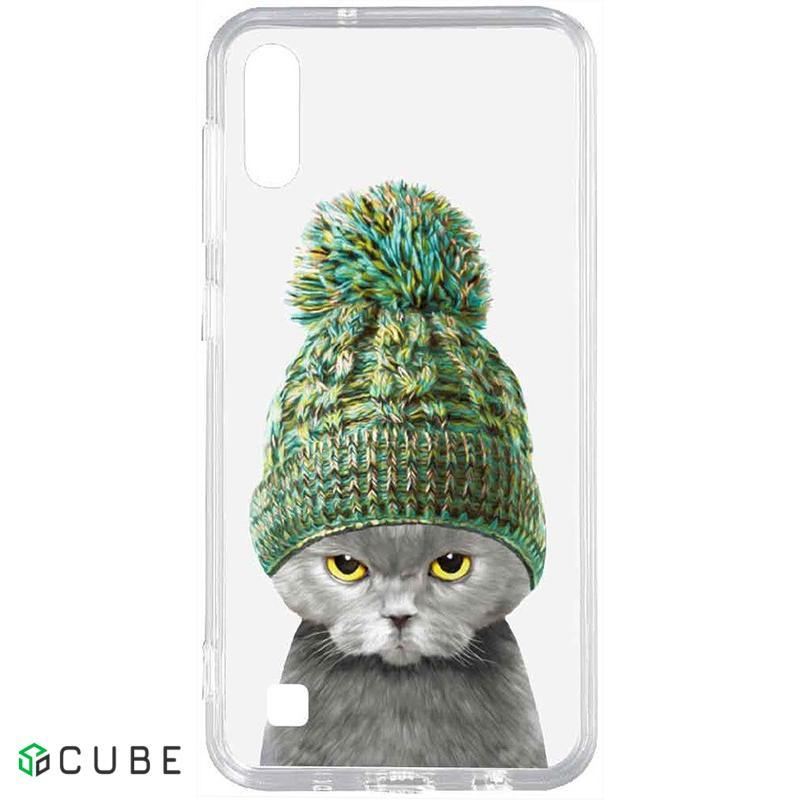 Чехол-накладка TOTO Acrylic+TPU Print Case Samsung Galaxy A10 #7 Cat In Hat Transparent