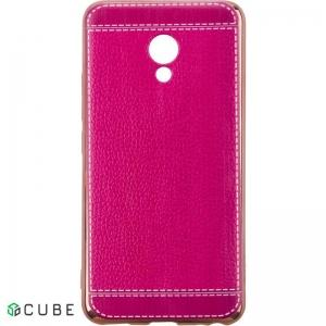 Чехол-накладка TOTO TPU case Leather Surface Meizu M5 Rose Red