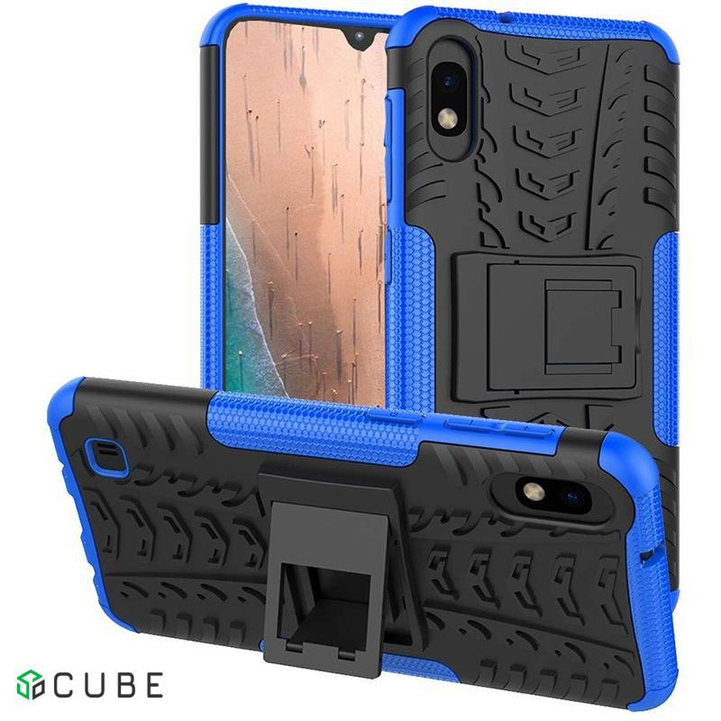 Чехол-накладка TOTO Dazzle Kickstand 2 in 1 Case Samsung Galaxy A10 Blue