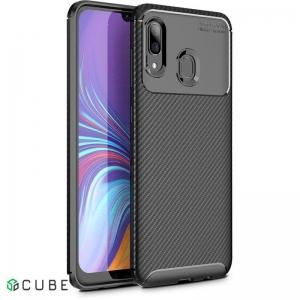 Чехол-накладка TOTO TPU Carbon Fiber 1,5mm Case Samsung Galaxy A20/A30 Black