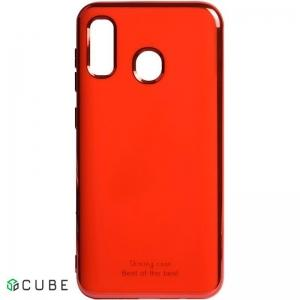 Чехол-накладка TOTO Electroplate TPU 2mm Case Samsung Galaxy A20/A30 Red