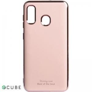 Чехол-накладка TOTO Electroplate TPU 2mm Case Samsung Galaxy A20/A30 Rose Gold