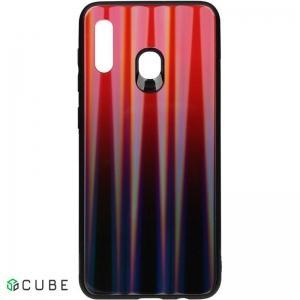 Чехол-накладка TOTO Aurora Print Glass Case Samsung Galaxy A20/A30 Red