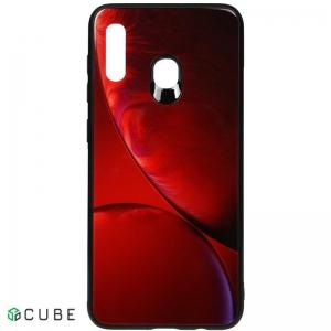 Чехол-накладка TOTO Print Glass Space Case Samsung Galaxy A20/A30 Rubin Red