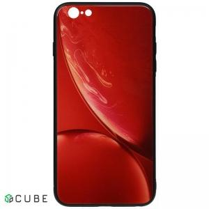 Чехол-накладка TOTO Print Glass Space Case Apple iPhone 6/6s Red