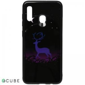 Чехол-накладка TOTO Night Light Print Glass Case Samsung Galaxy A20/A30 Deer