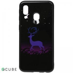 Чехол-накладка TOTO Night Light Print Glass Case Samsung Galaxy A40 Deer
