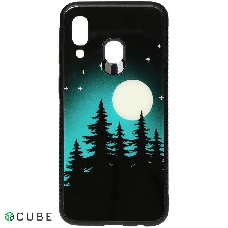 Чехол-накладка TOTO Night Light Print Glass Case Samsung Galaxy A40 Full Moon