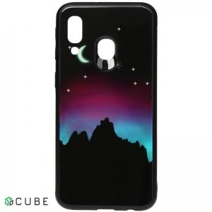 Чехол-накладка TOTO Night Light Print Glass Case Samsung Galaxy A40 Young Moon