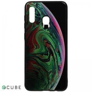 Чехол-накладка TOTO Print Glass Space Case Samsung Galaxy A20/A30 Green
