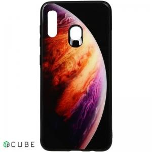 Чехол-накладка TOTO Print Glass Space Case Samsung Galaxy A20/A30 Lilac
