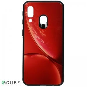 Чехол-накладка TOTO Print Glass Space Case Samsung Galaxy A40 Red