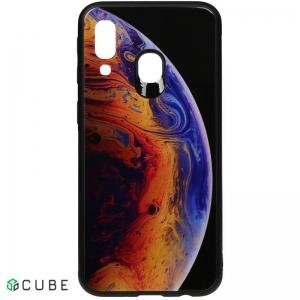 Чехол-накладка TOTO Print Glass Space Case Samsung Galaxy A40 Violet