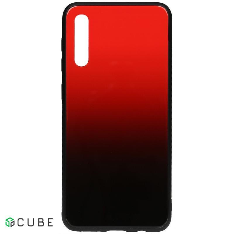 Чехол-накладка TOTO Gradient Glass Case Samsung Galaxy A30s/A50/A50s Red