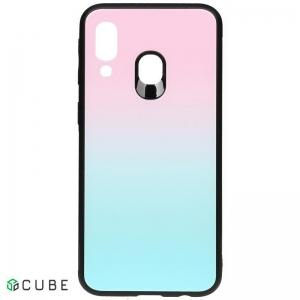 Чехол-накладка TOTO Gradient Glass Case Samsung Galaxy A40 Turquoise