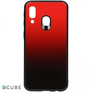 Чехол-накладка TOTO Gradient Glass Case Samsung Galaxy A40 Red