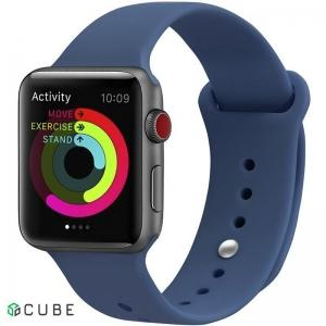 Ремешок UWatch Silicone Strap для Apple Watch 38/40 mm Ocean Blue