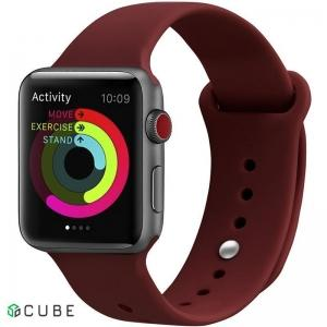 Ремешок UWatch Silicone Strap для Apple Watch 38/40 mm Wine Red