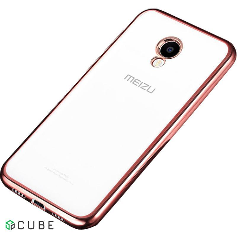 Чехол-накладка TOTO TPU case Electroplated Meizu M5 Note Rose Gold