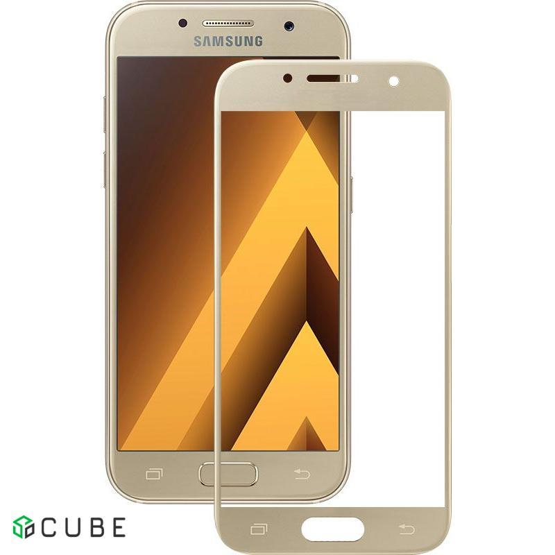 Защитное стекло Mocolo 3D Full Cover Tempered Glass Samsung Galaxy A3 2017 (A320) Gold