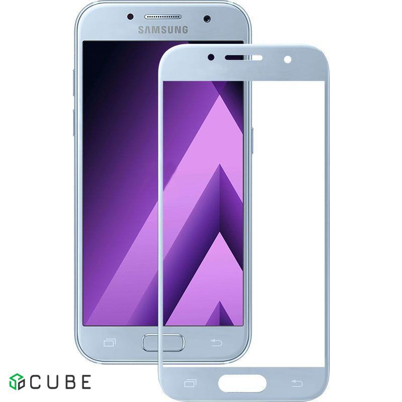 Защитное стекло Mocolo 3D Full Cover Tempered Glass Samsung Galaxy A3 2017 (A320) Blue