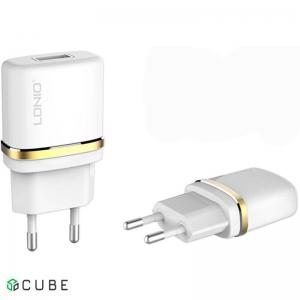 Сетевое зарядное устройство LDNIO DL-AC50 Travel charger 1USB 1A + MicroUsb cable White