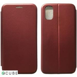 Чехол-книжка Level for Samsung A51 (A515) Marsala