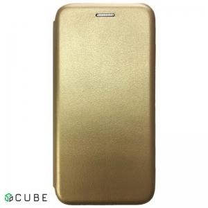 Чехол-книжка Level for Samsung A8 Plus 2018 (A730) Gold