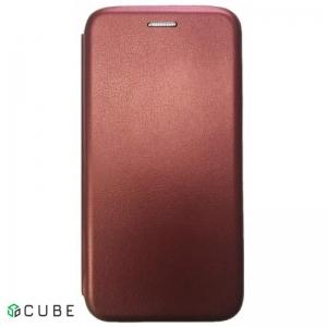 Чехол-книжка Level for Samsung A8 Plus 2018 (A730) Marsala