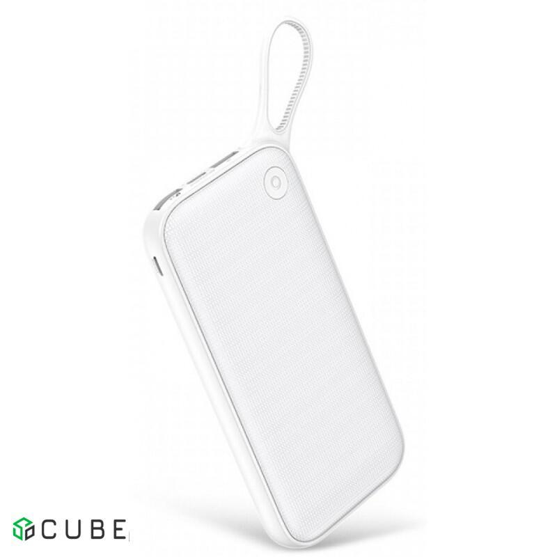 Power Bank Baseus Powerful Type-C PD+QC3.0 Quick Charge Power Bank 20000 mAh White