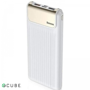 Power Bank Baseus Thin QC3.0 M+T Daul input Digital display Power bank 10000mAh White